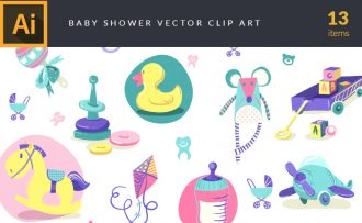 Baby Shower Vector Pack Vector packs Baby,Shower,vector,clipart,element,illustration