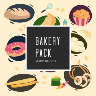 Bakery Vector Pack Vector packs Bakery,vector,clipart,element,illustration