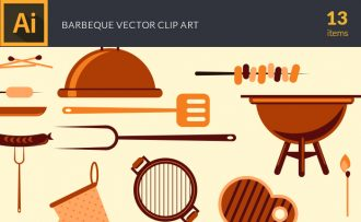 Barbeque Vector Pack Vector packs Barbeque,vector,clipart,element,illustration