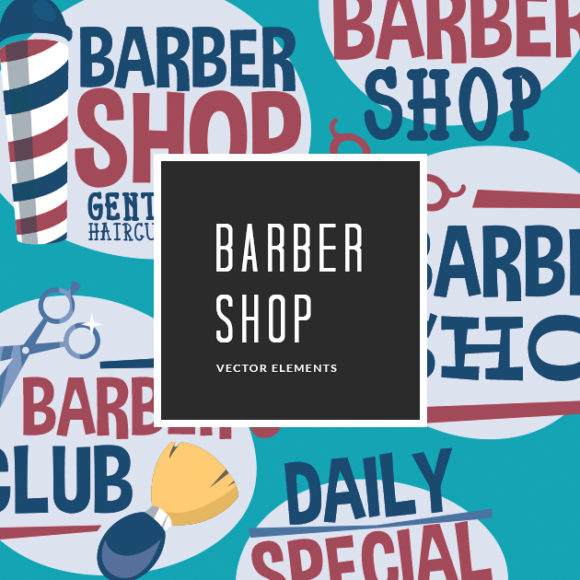 Free Barber Shop Vector Clip Art designious vector barber shop small