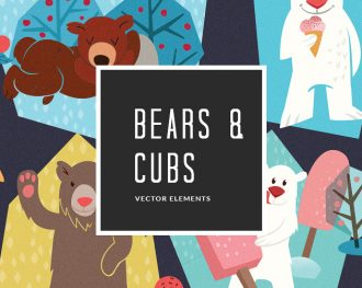 Bears Cubs 11 Vector Pack Vector packs Bears,Cubs,,vector,clipart,element,illustration