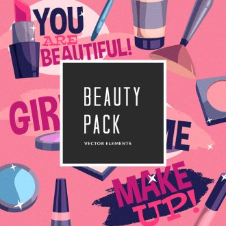 Beauty Vector Pack Vector packs Beauty,vector,clipart,element,illustration