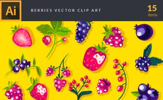 Berries Vector Pack Vector packs Berries,vector,clipart,element,illustration