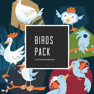 Birds 1 Vector Pack Vector packs Birds,,vector,clipart,element,illustration