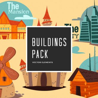 Buildings Vector Pack Vector packs Buildings,vector,clipart,element,illustration