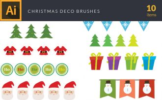 Christmas Decoration Vector Pack Vector packs Christmas,Decoration,vector,clipart,element,illustration