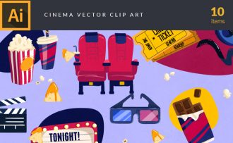 Cinema Vector Pack Vector packs Cinema,vector,clipart,element,illustration