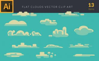 Clouds 1 Vector Pack Vector packs Clouds,,vector,clipart,element,illustration