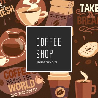 Coffee Vector Pack Vector packs Coffee,vector,clipart,element,illustration