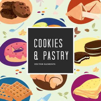 Cookies Pastry Vector Pack Vector packs Cookies,Pastry,vector,clipart,element,illustration