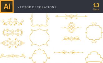 Decorations Vector Pack Vector packs Decorations,vector,clipart,element,illustration