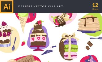 Desserts Vector Pack Vector packs Desserts,vector,clipart,element,illustration
