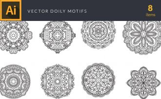 Doily Vector Pack Vector packs Doily,vector,clipart,element,illustration