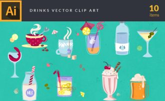 Drinks Vector Pack Vector packs Drinks,vector,clipart,element,illustration