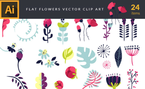 Flat Flowers | Vector Pack