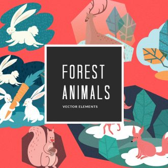 Forest Animals Vector Pack Vector packs Forest,Animals,vector,clipart,element,illustration