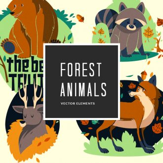 Forest Animals 2 Vector Pack Vector packs vector