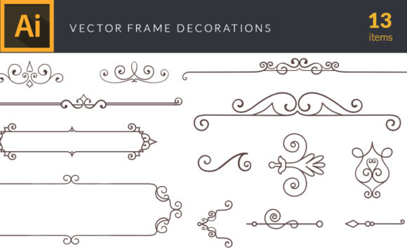 Frame Decorations | Vector Pack designious vector frame decorations small
