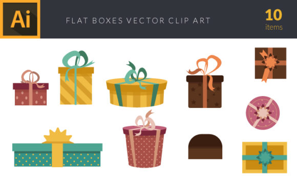 Colorful Gift Boxes   Vector Pack