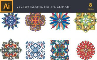 Islamic Motifs Vector Pack Vector packs Islamic,Motifs,vector,clipart,element,illustration