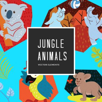 Junlge Animals 12 Vector Pack Vector packs Junlge,Animals,,vector,clipart,element,illustration