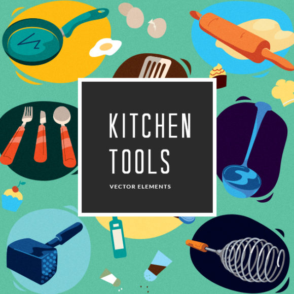 Illustrated Kitchen Tools | Vector Pack designious vector kitchen tools small