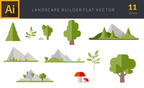 Flat Landscape Builder | Vector Pack 5