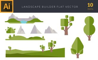 Landscape Builder 2 Vector Pack Vector packs Landscape,Builder,,vector,clipart,element,illustration