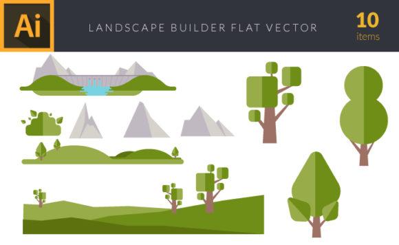 Flat Landscape Builder | Vector Pack