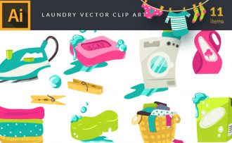 Laundry Vector Pack Vector packs Laundry,vector,clipart,element,illustration