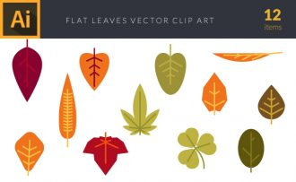 Leaves 1 Vector Pack Vector packs Leaves,,vector,clipart,element,illustration