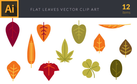 Colorful Autumn Leaves Vector Pack