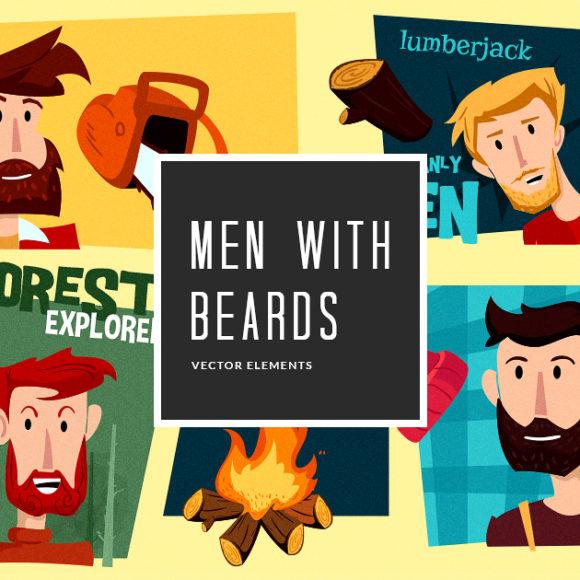 Men Beards Vector Pack Vector packs Men,Beards,vector,clipart,element,illustration