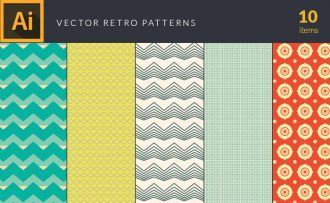 Retro Patterns Vector Pack Vector packs Retro,Patterns,vector,clipart,element,illustration