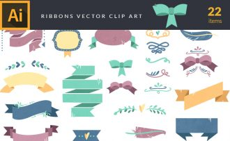 Ribbons Vector Pack Vector packs Ribbons,vector,clipart,element,illustration