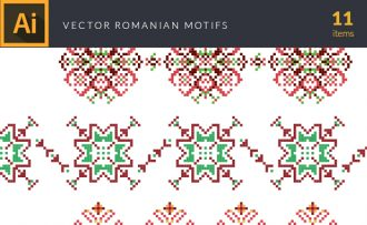 Romanian Motifs Vector Pack Vector packs Romanian,Motifs,vector,clipart,element,illustration