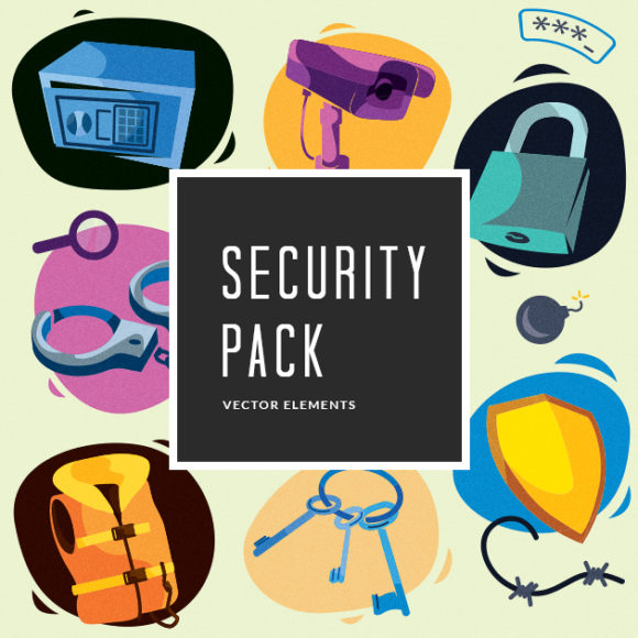 Security Vector Pack Vector packs Security,vector,clipart,element,illustration