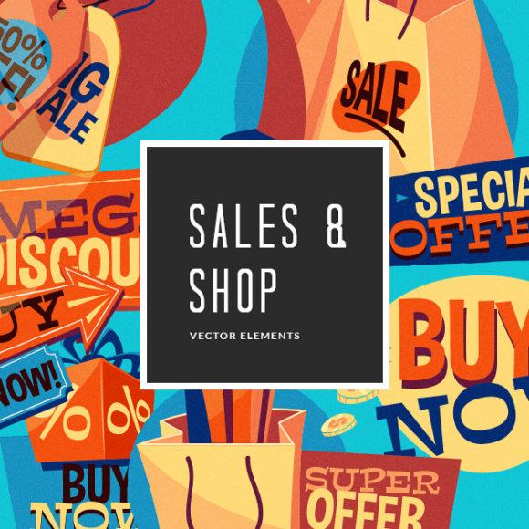 Shopping Vector Pack Vector packs Shopping,vector,clipart,element,illustration