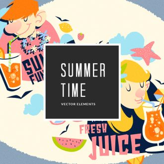 Summer Vector Pack Vector packs Summer,vector,clipart,element,illustration