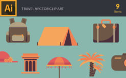 Travel 2 Vector Pack Vector packs Travel,vector,clipart,element,illustration