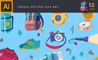 Travel Vector Pack Vector packs Travel,vector,clipart,element,illustration