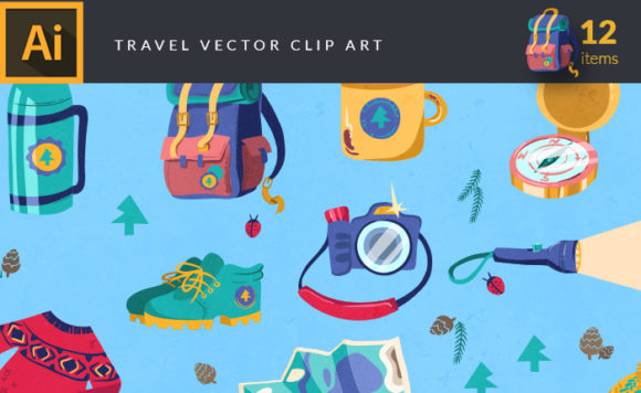 Travel Vector Pack Vector packs Travel,vector,clipart,element,illustration