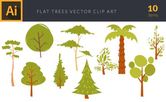 Trees 1 Vector Pack Vector packs Trees,,vector,clipart,element,illustration