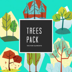 Trees 3 Vector Pack Vector packs Trees,,vector,clipart,element,illustration
