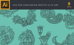 Ukrainean Motifs Vector Pack Vector packs Ukrainean,Motifs,vector,clipart,element,illustration