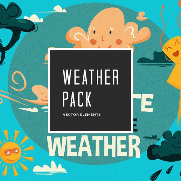Weather Vector Pack Vector packs Weather,vector,clipart,element,illustration