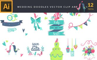 Wedding Doodles Vector Pack Vector packs Wedding,vector,clipart,element,illustration