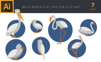 Wild Birds 1 Vector Pack Vector packs Wild,Birds,,vector,clipart,element,illustration