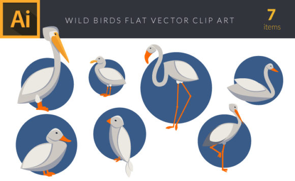 Wild Birds 1 Vector Pack designious vector wild birds 1 small