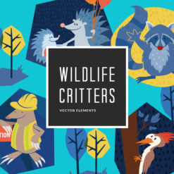 Wildlife Critters 6 Vector Pack Vector packs Wildlife,Critters,,vector,clipart,element,illustration